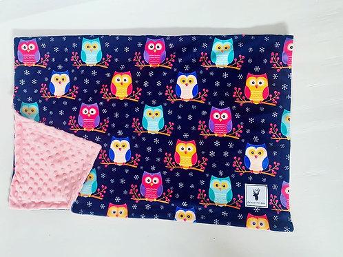 Doudou/Blanket | Doudou hiboux rose