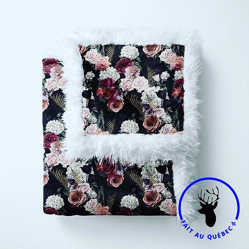 Accessoires | Accessories | Doudou fourrure floral noire