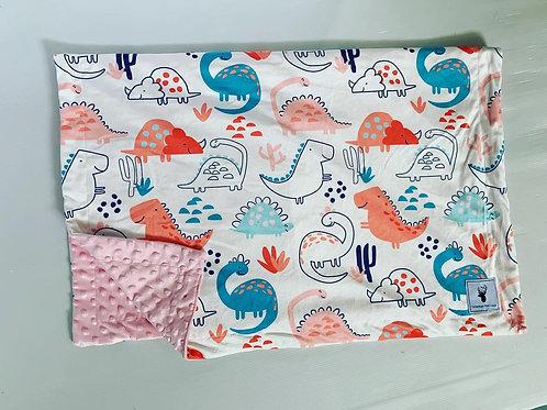 Doudou/Blanket | Doudou dino rose