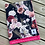 Thumbnail: Accessoires   doudou floral noir endos fushia