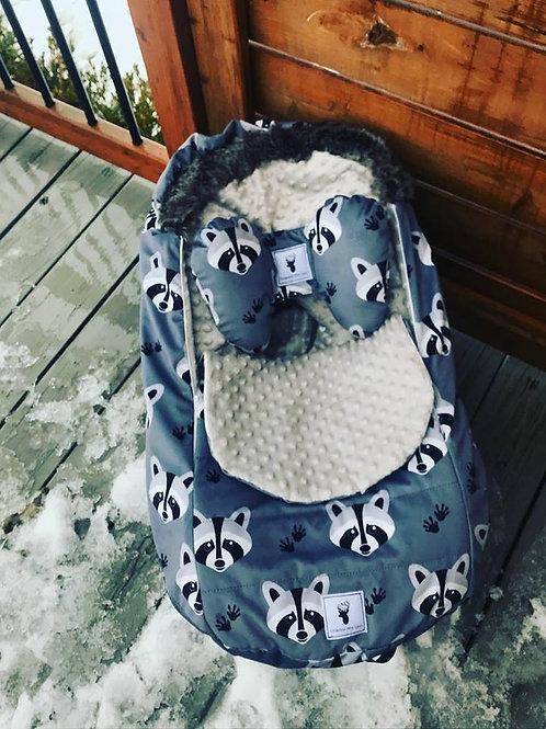 Housse Hiver | winter slipcover | Raton Minky gris