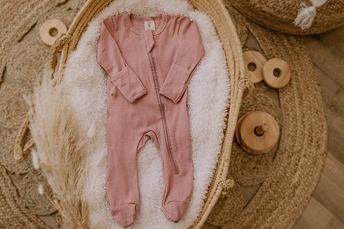 Pyjama coton vieux rose