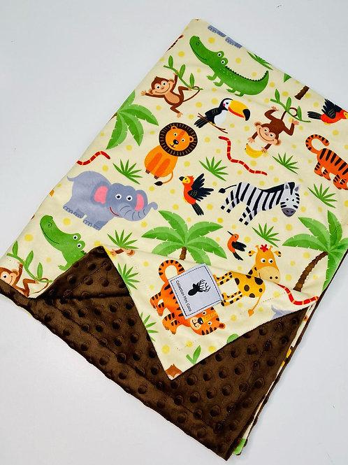 Accessoires   doudou jungle endos brun