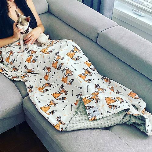 Doudou renard orange/Blanket orange fox