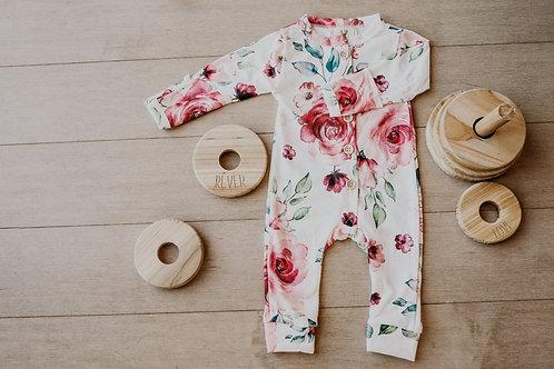 Pyjama floral rouge/ pajamas