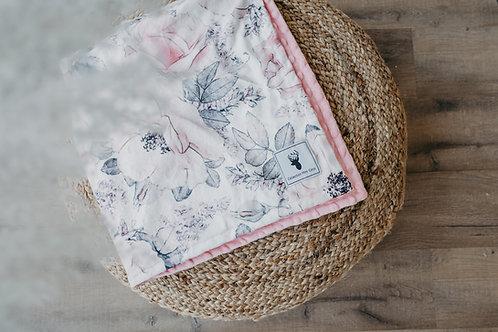 Accessoires   Accessories   Doudou/Blanket   Doudou minky floral blanc