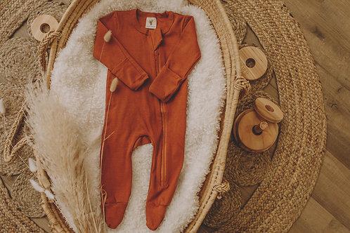 Pyjama coton rouille