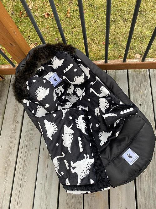 Housse Hiver | winter slipcover |dino extérieur noir