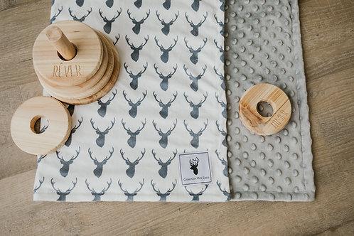 Accessoires | Accessories | Doudou/Blanket | Doudou chevreuil gris