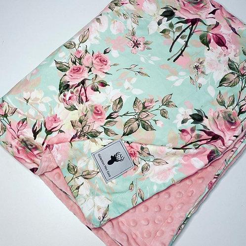 Accessoires | Accessories | Doudou floral turquoise