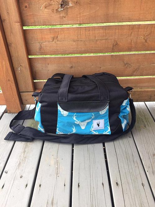 Sac à couches / bandoulière | Shoulder strap / Diaper bag | Chevreuil bleu