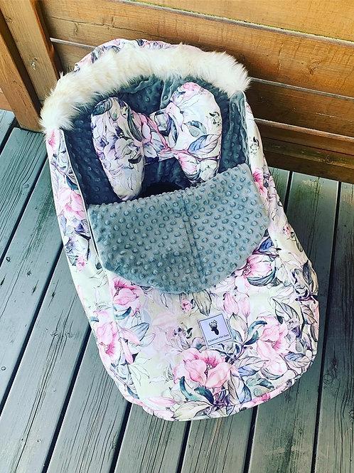 Housse Hiver   winter slipcover   Floral pastel Minkygris