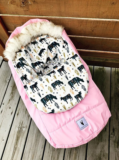 Housse Hiver | winter slipcover | Rose et vaches