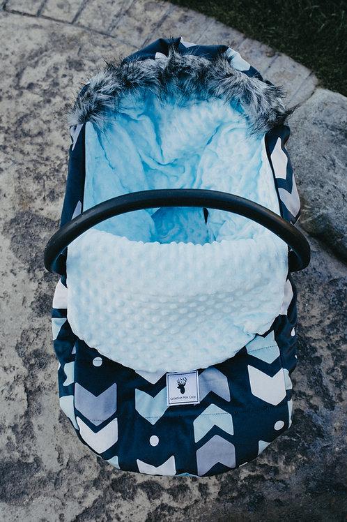 Housse Hiver | winter slipcover | flèches bleu