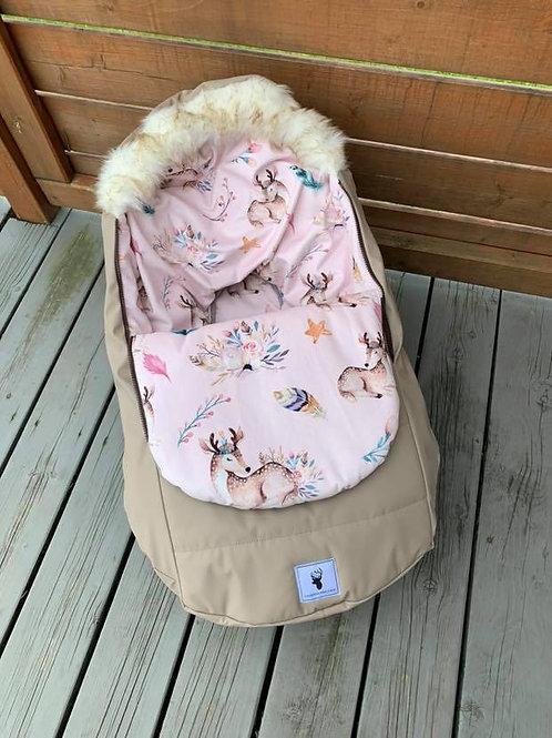 Housse Hiver | winter slipcover | Bambi rose extérieur beige