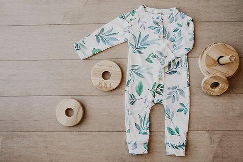 Pyjama feuille verte/ pajamas