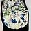 Thumbnail: Houssse Hiver | winter slipcover |  floral vert et bleu