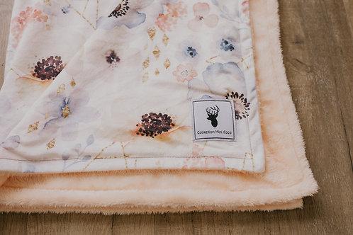Accessoire  | Accessories | Doudou petite fleurs endos pêche