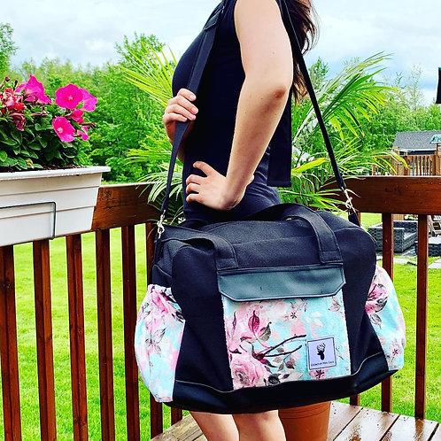 Sac à couches / bandoulière | Shoulder strap / Diaper bag | Floral turquoise