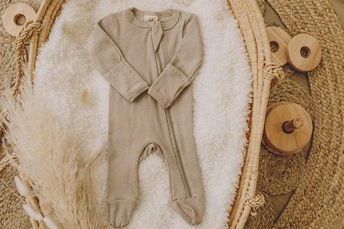 Pyjama coton taupe