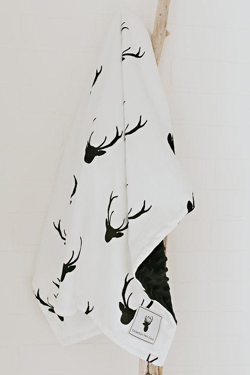 Accessoires | doudou chevreuil noir sur fond blanc