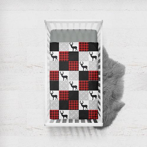 Literie | Bedding | Courtepointe chevreuil rustique