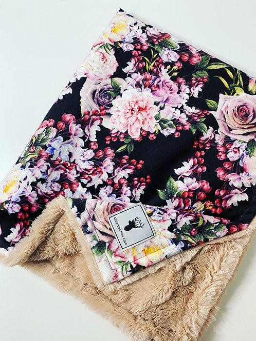 Accessoire  | Accessories | Doudou fleurs cerisiers endos fourrure