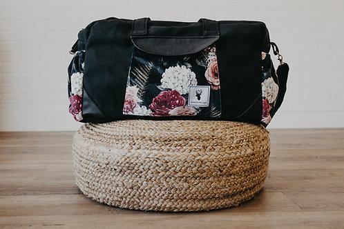 Sacs à couches extra large / bandoulière   floral noir