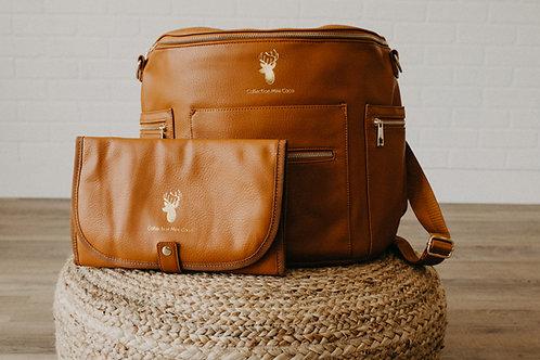 Sac à couches / sac à dos   Back pack / Diaper bag  faux cuir brun