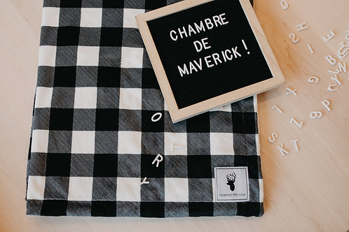 Accessoires | Accessories | Doudou/Blanket | Doudou carreaux noir et blanc