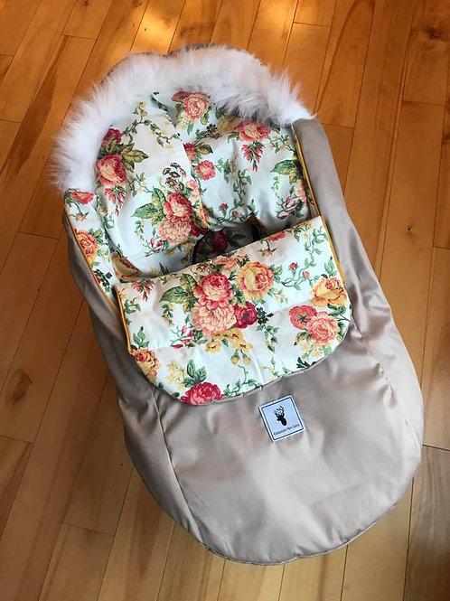 Housse Hiver | winter slipcover | Floral blanc extérieur blanche