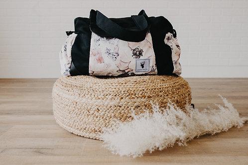 Sac à couches / bandoulière | Shoulder strap / Diaper bag | floral blanc