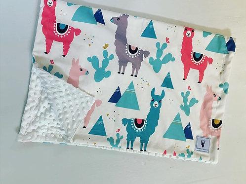 Doudou/Blanket   Doudou lama bleu et rose