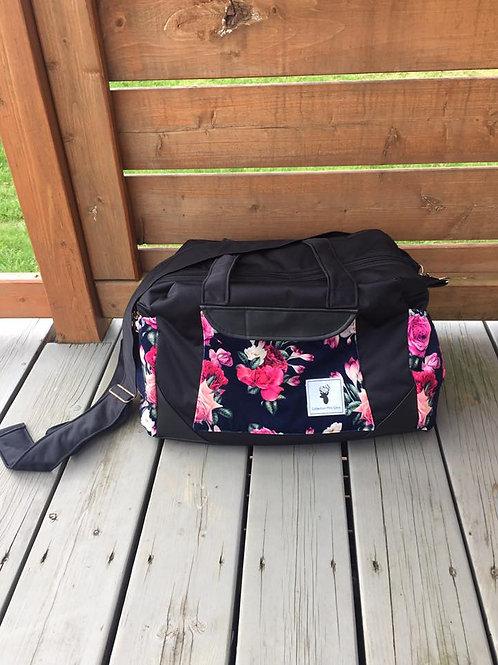Sac à couches / bandoulière   Shoulder strap / Diaper bag  Floral marine