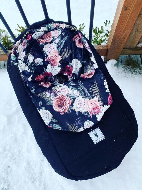 Housse mi-saison | Mid season slipcover |floral noir