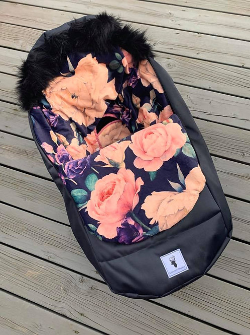Housse Hiver | winter slipcover | Floral mauve