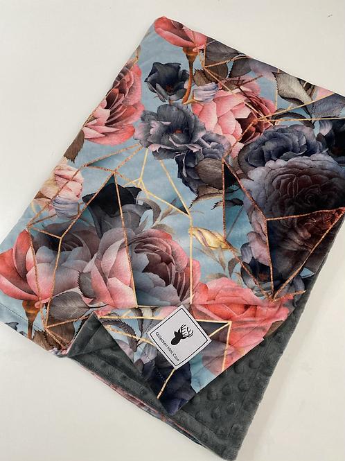 Accessoires   doudou floral vintage endos gris