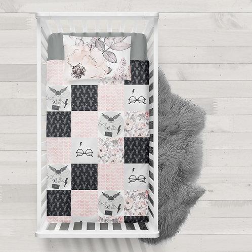 Literie | Bedding |patchwork HP harry chevreuil et fleurs