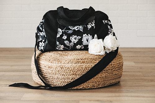 Sac à couches / bandoulière/ roses blanches