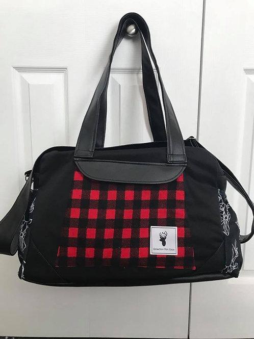 Sac à couches / bandoulière | Shoulder strap / Diaper bag | Carreaux
