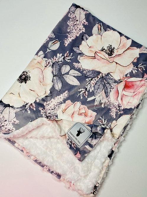 Accessoires | doudou grosse fleurs endos poilu blanc
