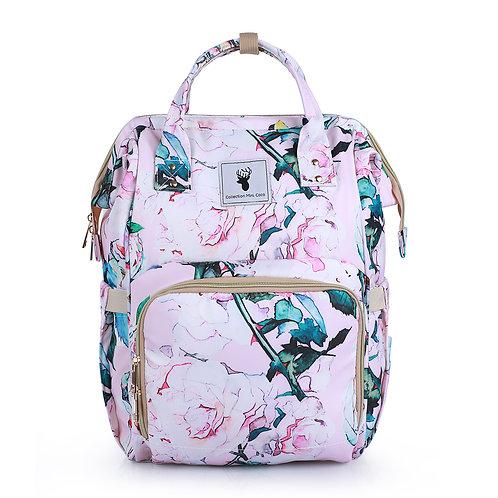 Sac à couches / sac à dos | Back pack / Diaper bag | floral rose