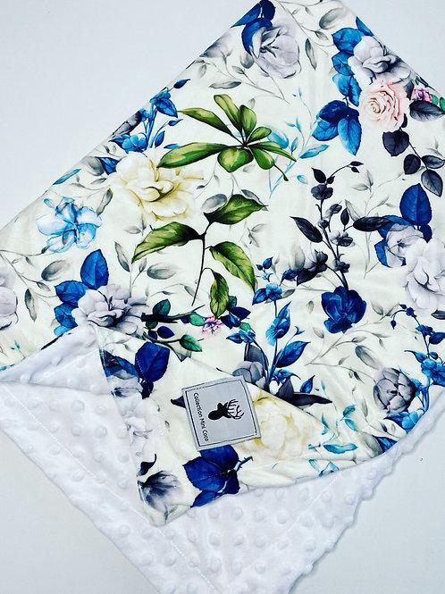 Accessoire   Accessory   Doudou floral vert et bleu