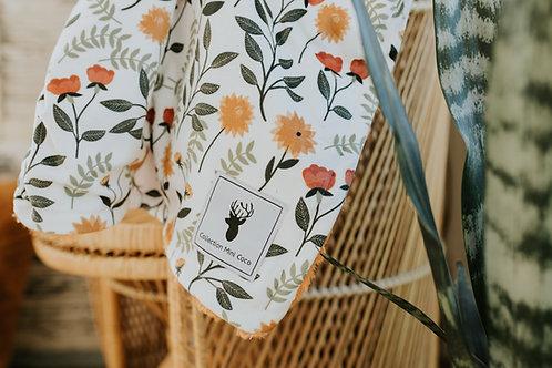 Accessoires   doudou petite fleurs endos poilu