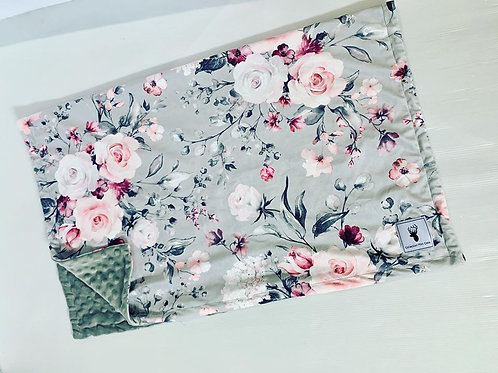 Accessoires   Accessories   Doudou floral grise minky gris