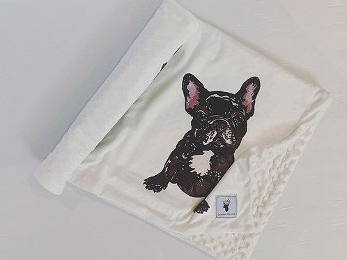 Accessoires | Accessories | Doudou/Blanket | Doudou minky mini chien boston