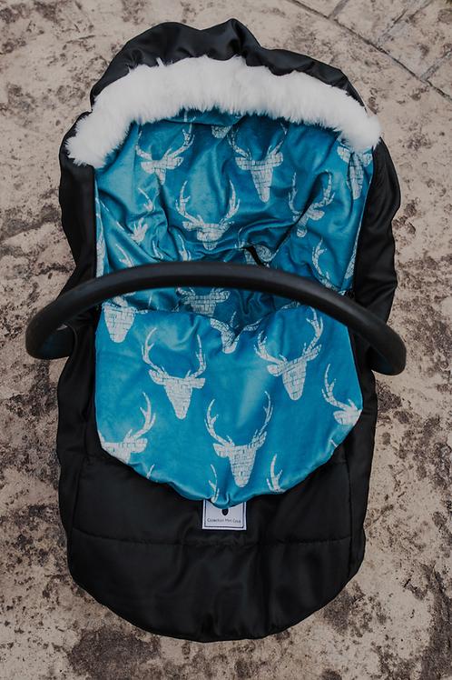 Hiver | winter slipcover |intérieur chevreuil bleu