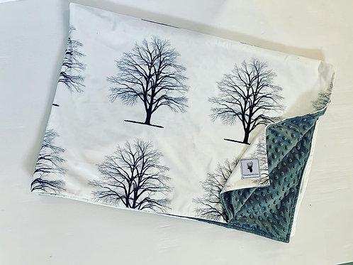 Accessoires   Accessories   Doudou/Blanket   Doudou minky arbre endos gris