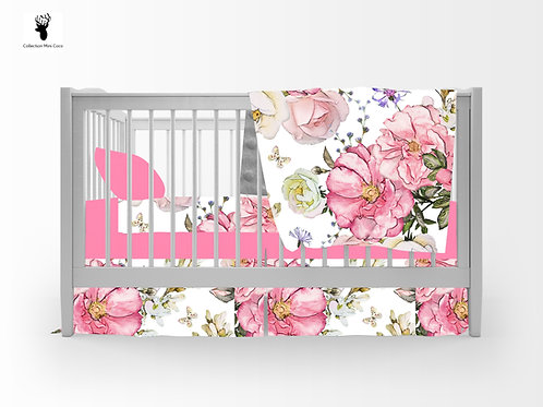 Literie | Bedding | floral blanc
