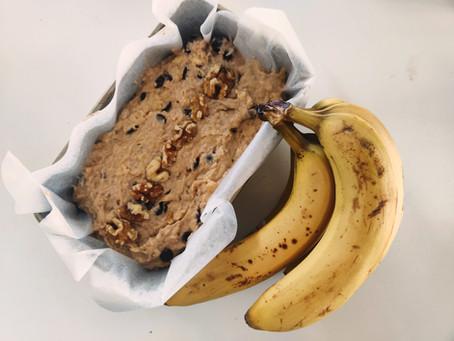 #isobaking - Vegan Banana and Dark Chocolate Bread